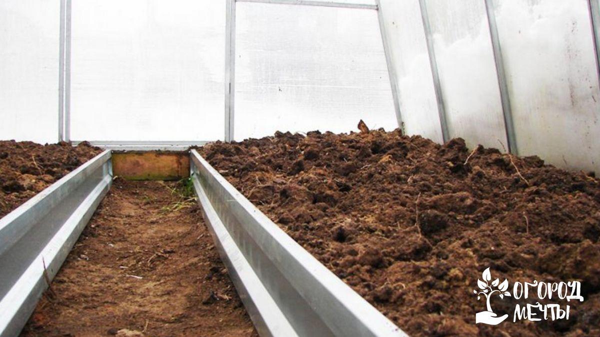 3. Засыпка свежей почвы