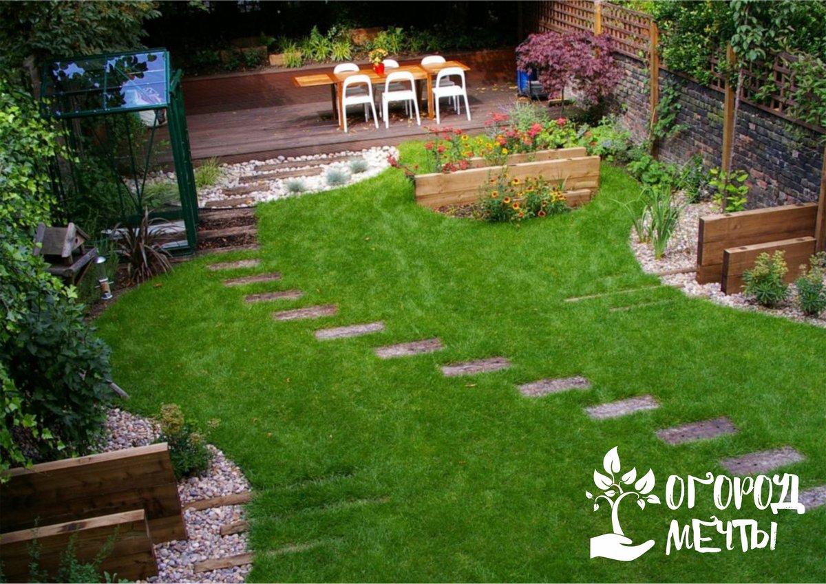6. Нужно правильно распределить пространство, задействованное под сад