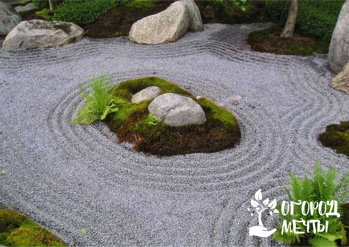 Стильная новинка на участке - японский каменный сад
