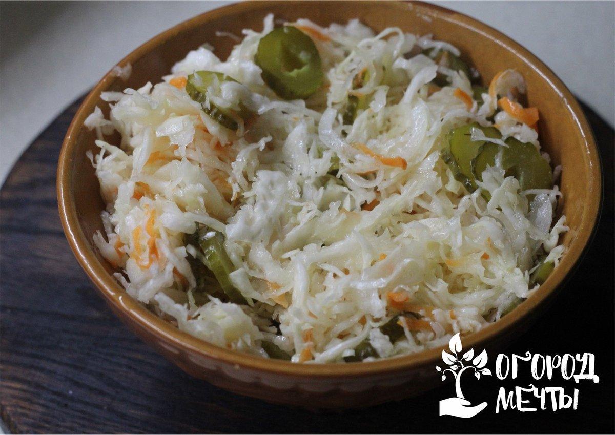 Капустный салат с разносолами