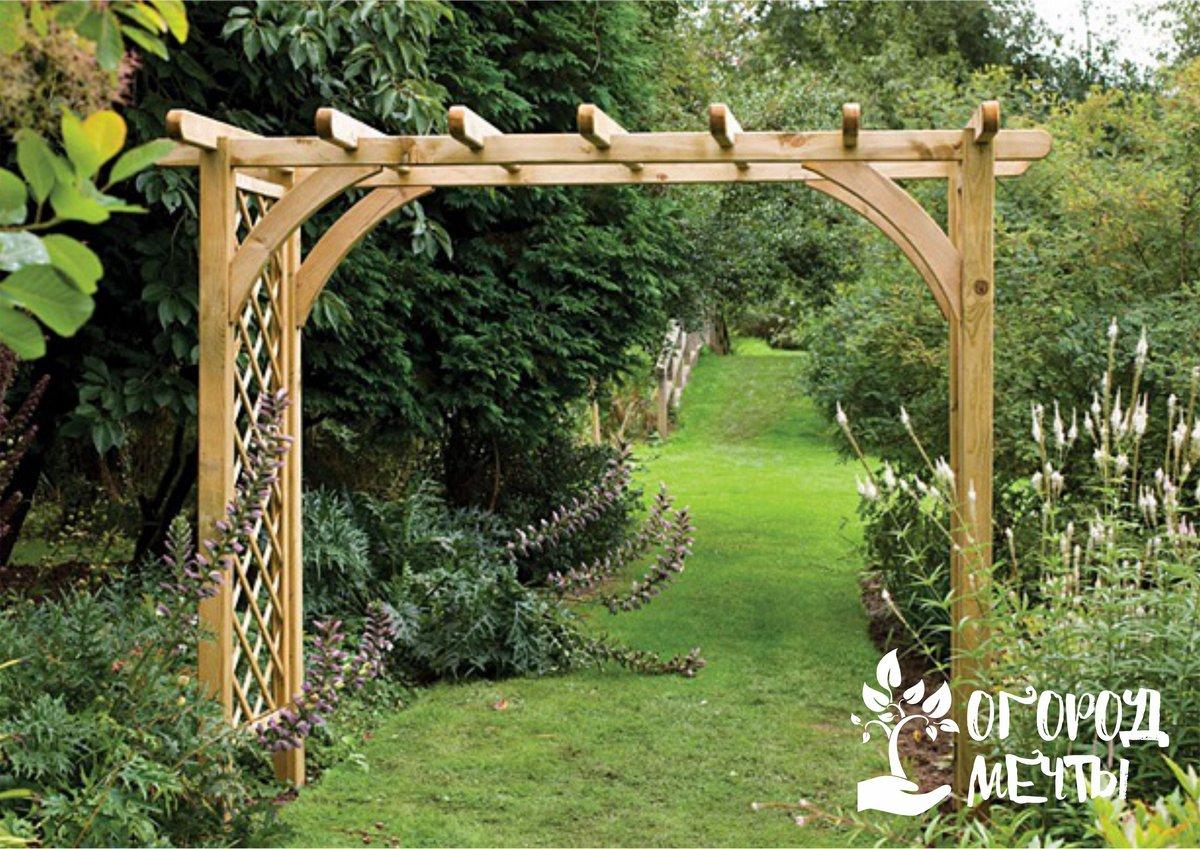 Красивое украшение для вашей дачи за копейки! Все о декоративных перголах в саду