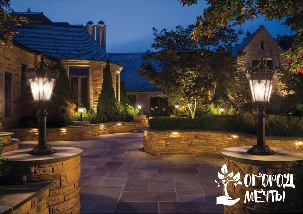 Освещение на даче - важный элемент ландшафтного дизайна! Четыре универсальных способа оформления подсветки дачной дорожки