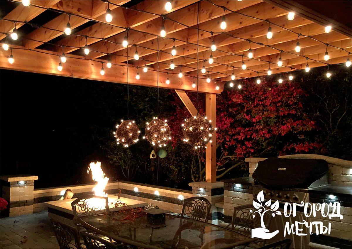 Как красиво украсить перголу на даче? Представляем семь интересных идей удачного декора для садовой перголы!